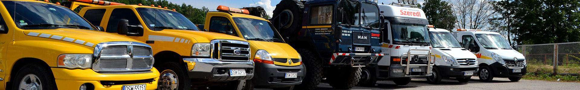 firma transportowa Szeredi i jej auta pomocy drogowej