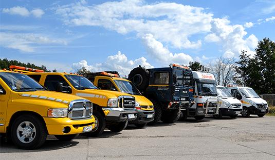 pojazdy firmy Pomoc Drogowa Szeredi